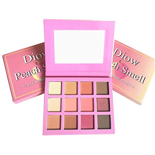Diow Eyeshadow Palette Highly Pigmented Matte and Shimmer Peach Eye Shadows Professional Makeup Nudes Smokey -