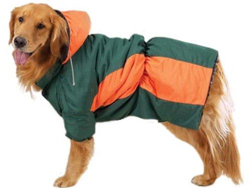 Zack & Zoey Green & Orange Base Camp Warm Hooded Dog Coat Parka Large Review