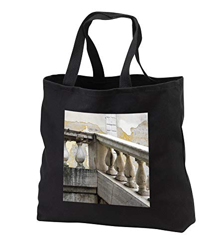 (3dRose Danita Delimont - Architecture - Italy, Venice, Stairs and Rail - Black Tote Bag 14w x 14h x 3d (tb_313752_1))