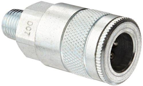 """Dixon Valve & Coupling Valve DC7 Steel Air Chief Automotive Interchange Quick-Connect Air Hose Socket, 3/8"""" Coupler x 1/4"""" NPT Male Thread, 70 CFM Flow Rating"""