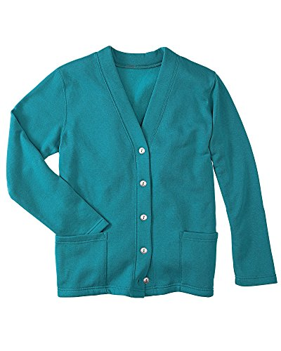 National Fleece Cardigan, Jade, Medium