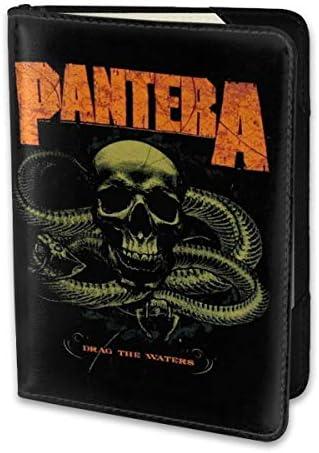 PANTERA DRAG THE WATERS パスポートケース メンズ 男女兼用 パスポートカバー パスポート用カバー パスポートバッグ 小型 携帯便利 シンプル ポーチ 5.5インチ高級PUレザー 家族 国内海外旅行用品