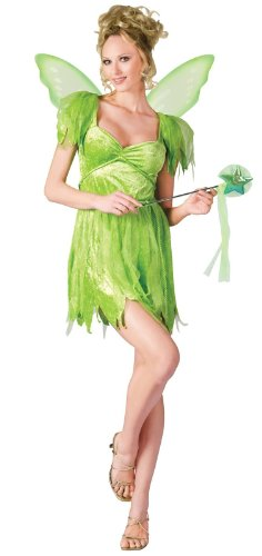 Fun World Women's Neverland Fairy, Green, S/M Size 2-8
