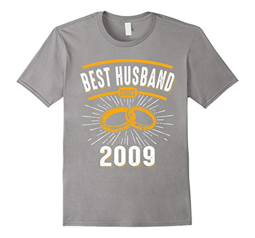 Mens Best Husband Since 2009 9th 9 Years Wedding Anniversary Medium Slate