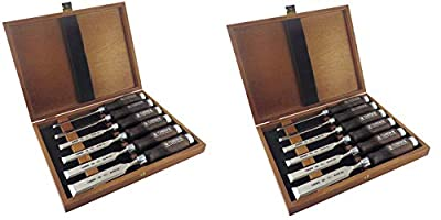 "Narex 6 pc set 6mm (1/4""), 10 (3/8""), 12 (1/2""), 16 (5/8""), 20 (13/16""), 26 (1 1/16"") Woodworking Chisels in Wooden Presentation Box 853053"