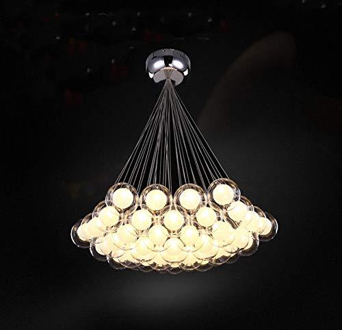 FidgetGear Modern Glass Ball Bubble LED Pendant Lamp Chandelier Ceiling Lights with G4 Bulb Cool White 15 Heads by FidgetGear (Image #5)
