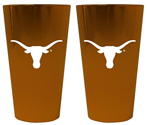 (Texas Longhorns Lusterware Pint Glass - Set of 2)