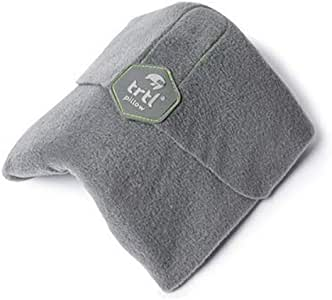 trtl Pillow - Scientifically Proven Super Soft Neck Support Travel Pillow - Machine Washable (Grey)