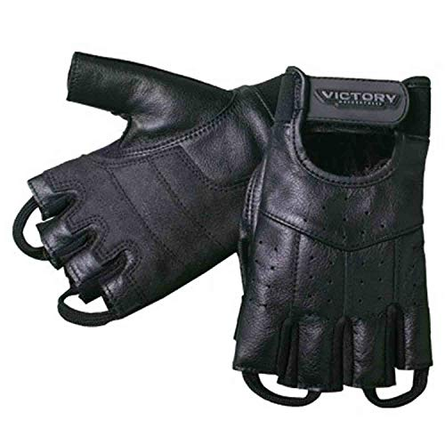 Victory Leather - Genuine Victory Motorcycles Mens Fingerless Leather Motorcycle Gloves Small pt# 286323102