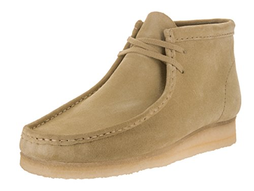 Clarks Men's Wallabee B Chukka Boot,Maple Tan Suede,9 M US