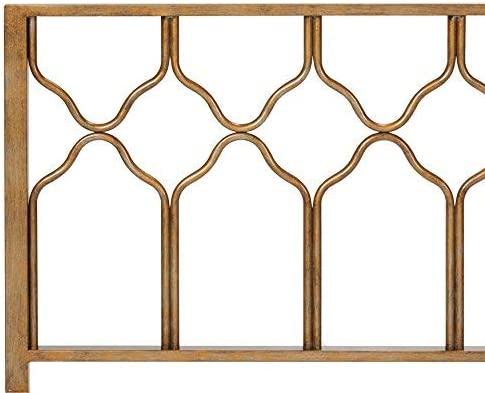home, kitchen, furniture, bedroom furniture, beds, frames, bases, headboards, footboards,  headboards 7 on sale In Style Furnishings Classic Geometric Metal Honeycomb Headboard promotion