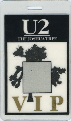 U2 1987 Joshua Tree Laminated Backstage Pass Very Rare VIP