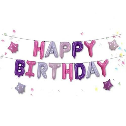 FUNPRT Happy Birthday Letters Mylar Balloon Party Decor