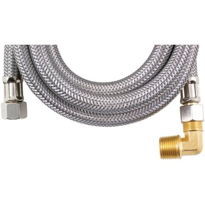 Price comparison product image Loyal Mk460b Braided Stainless Steel Dishwasher Connectors With Elbow (60)
