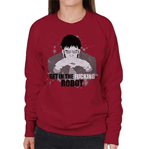 7 7 Women's The Cherry Cherry Cherry in Red Cloud Fucking City Robot Get Sweatshirt paOpx1A