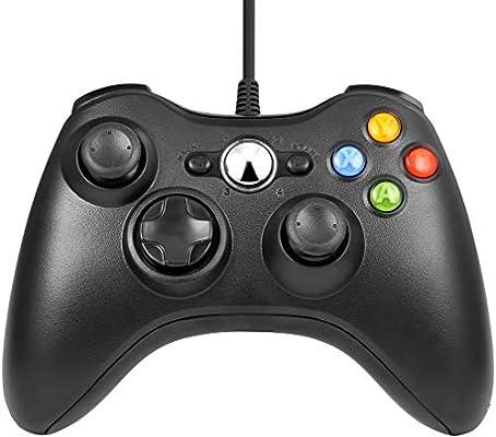 Xbox 360 Mando de Gamepad, Mando pc, Mando xbox 360 con Vibración ...