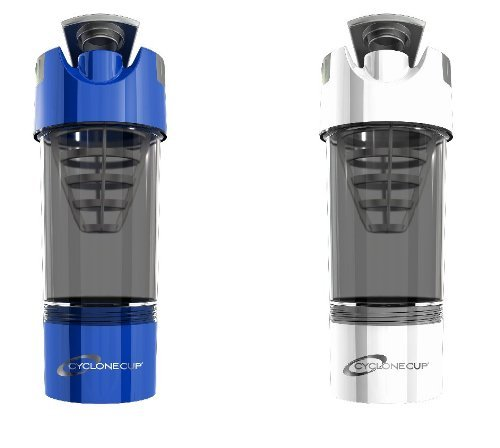 Cyclone Cup Shaker Bottle 20oz - Set of 2 - Blue and White