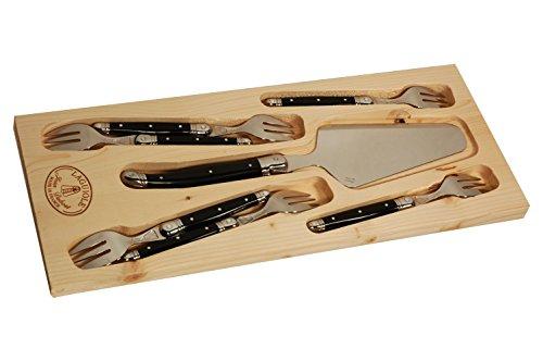 Jean Dubost Laguiole 7-Piece Cake Knife Set, Ivory