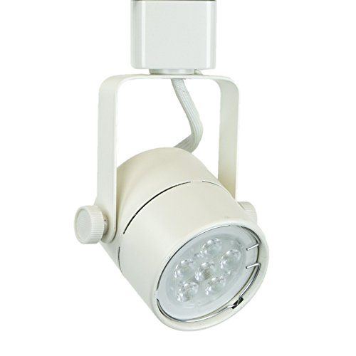 Direct-Lighting H System 3000K GU10 LED Track Lighting Head White - with 3000K Warm White 7.5W LED Bulb 50154L ()