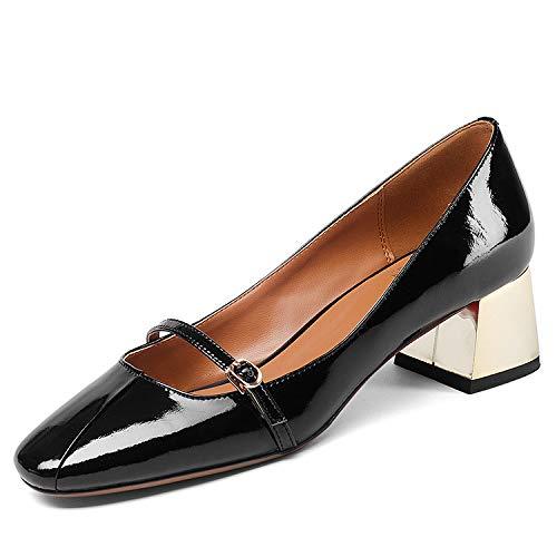 Femmes Encolure Black à Square carrée Head pour Chaussures 7wtqSx
