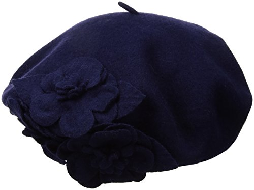 Betmar Women's Flower Beret, Navy, One Size