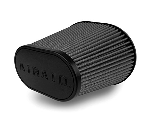 Airaid 722-479 Universal Clamp-On Air Filter: Oval Tapered; 6 in (152 mm) Flange ID; 7 in (178 mm) Height; 9 in x 7.25 in (229 mm x 184 mm) Base; 6.25 in x 3.75 in (159 mm x95 mm) Top