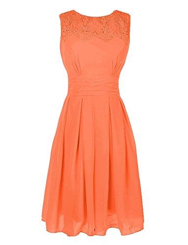 Prom with Anlin AN236 Short Neckline Gowns Dress Bridesmaid Appliques Orange OwCHg7q