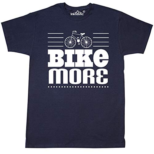 - inktastic - Cycling Environment Earth Day Bike T-Shirt X-Large Navy Blue 344f1