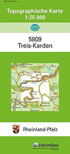 TK25 5809 Treis-Karden: Topographische Karte 1:25000 (Topographische Karten 1:25000 (TK 25) Rheinland-Pfalz (amtlich)) Landkarte – 1. Dezember 2016 3896370499 Deutschland Atlas Rheinland-Pfalz / Landkarte