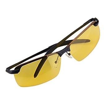 vision nocturne lunettes de conduite anti-reflet polarisé Jaune Verres Unisexe hPUxPXmziH