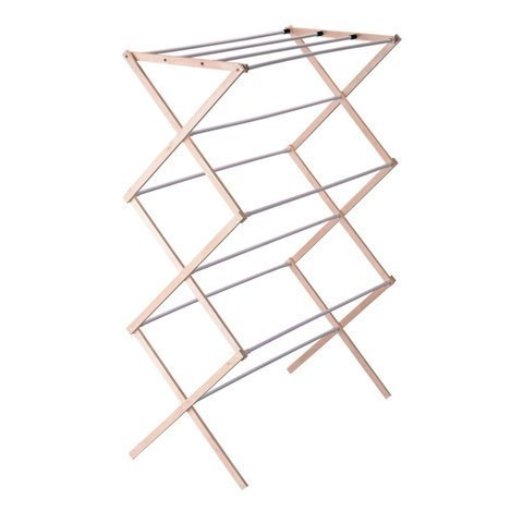 41K4tOGYxBL - Household Essentials Folding Wood Clothes Drying Rack, Pre assembled
