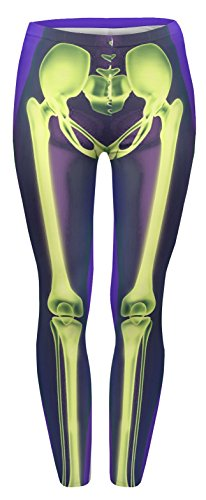 Fringoo - Medias deportivas - para mujer Skeleton Green