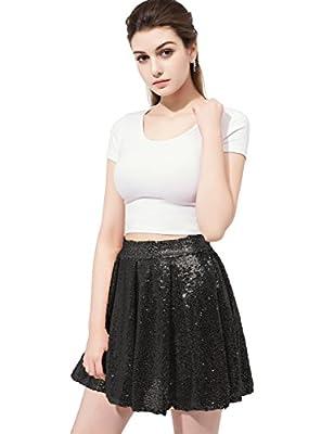 Belle House Sequined Mini Skirt Cocktail Dress for Juniors And Women