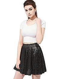 Women's Long/Mine Party Prom Skirt Sequins Skirt Plus 12026