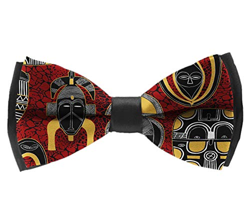 Adjustable Mask African Motifs Pre-tied Boys Bow Tie Accessory Gift
