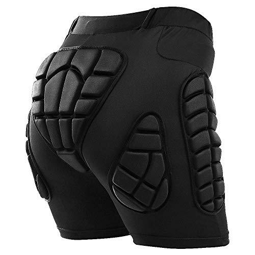TOMSHOO Hip Protection Pads Shorts, Upgrade Hip Protection Pads,3D EVA Hip Bone Protection Pad Impact Resistance Lightweight Protective Gear for Ski Skate Snowboard Skating