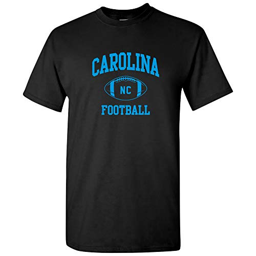 Carolina Classic Football Arch American Football Team T Shirt - 3X-Large - Black ()