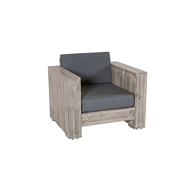 Lounge gruppo Bali in legno di acacia grigio Palette Mobili, gruppo mobili da giardino Outdoor 3 spesavip