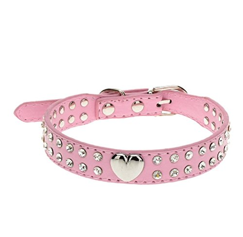 [LOVELYIVA Fashion Bling Crystal Puppy Choker Cat Dog Puppy Pet Collar Necklace (medium, Pink)] (Difference Between Fashion Jewellery And Costume Jewellery)