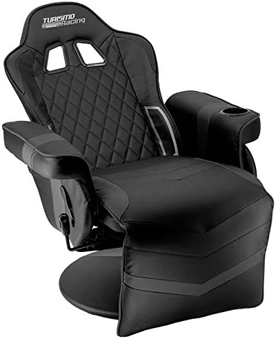 Turismo Racing Stanza Series Gaming Chair Ergonomic Gaming Bucket Lumbar Support Executive Computer Nomic Chair Black Recliner