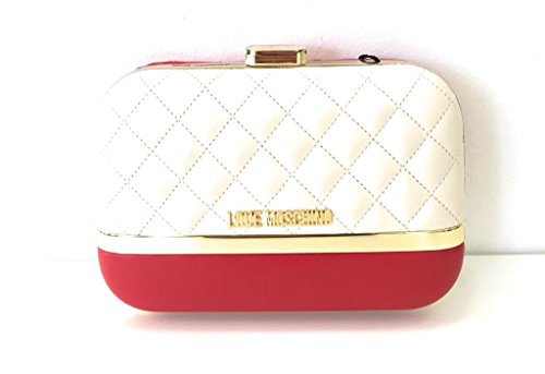 rosso Love Avorio Pelle Quilted In Moschino Pz Nappa qUnWwBfwF