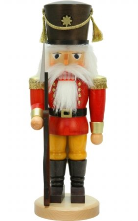 Christian Ulbricht Red Soldier with Rifle Nutcracker by Christian Ulbricht