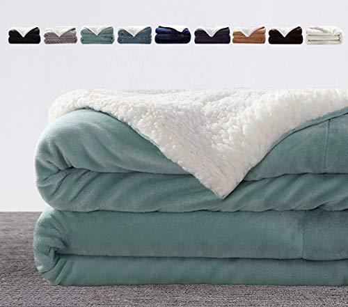 LIANLAM Sherpa Fleece Blanket Plush Blanket Lightweight Super Soft and Warm Fuzzy Bed Blanket Microfiber for All Seasons
