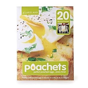 20 x Lakeland Poachets Single Use Egg Poacher Pouches Amazonco