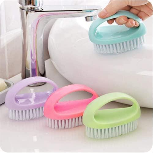 bisinisi Kitchen Bathroom Multifunction Cleaning Brush, Plastic Shoe Cleaning Brush Home Kitchen Bathroom Gadget Tool…