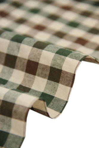 57 Wide Home Quilting Fabric Cotton Plaids Fabric Coffee Green 17 5 57 Inches