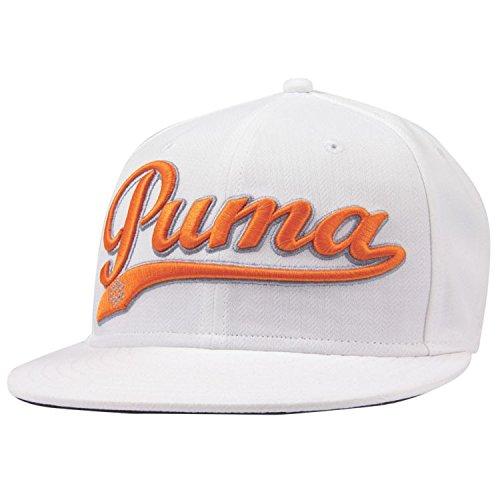 Puma Logo Script Cool Cell Snapback Cap - WHITE