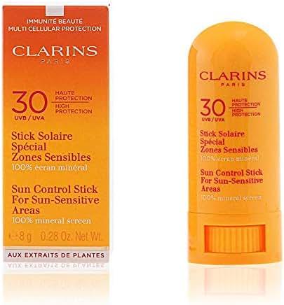 Clarins SPF 30 Sun-Sensitive Areas Control Stick for Unisex, 8 Grams