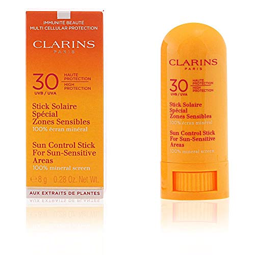 Clarins SPF 30 Sun-Sensitive Areas Control Stick for Unisex, 8 Grams