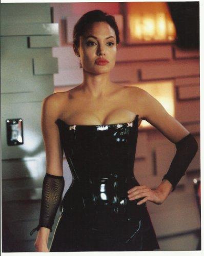 Angelina Jolie as Mrs. Smith in Mr. & Mrs. Smith in Black Vinyl Dress 8 x 10 Photo